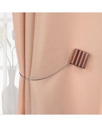 Подхват для штор «Круг и Квадрат», 4 × 4 см, цвет коричневый арт. СМЛ-30920-1-СМЛ4219229
