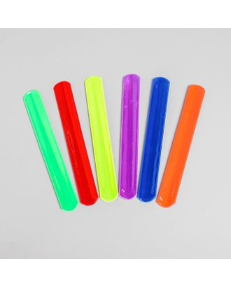 Браслет светоотражающий, 22 см, цвета МИКС арт. СМЛ-31131-1-СМЛ4234703