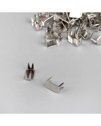 Нижний металлический ограничитель №5, набор 500шт, цв.никель арт. СМЛ-31288-1-СМЛ4237977