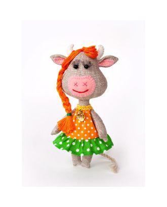 """Набор для создания текстильной игрушки серия """"Домовенок и компания"""" Корова Бурёнка арт. СМЛ-31424-1-СМЛ4239794"""