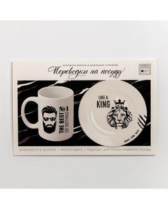 Переводки на посуду (холодная деколь) «Лев», 21 × 29,7 см арт. СМЛ-31938-1-СМЛ4254139