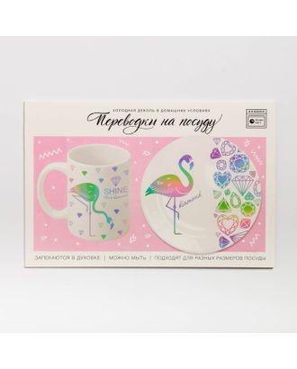 Переводки на посуду (холодная деколь) «Фламинго», 21 × 29,7 см арт. СМЛ-31944-1-СМЛ4254145
