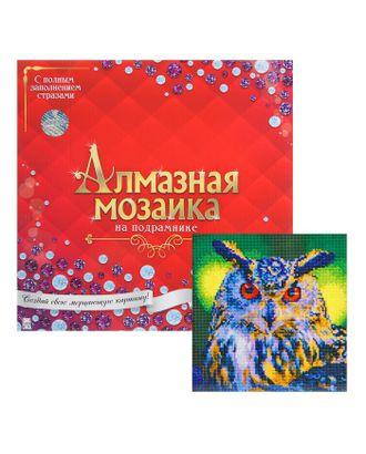 Алмазная мозаика с полным заполнением, 30 × 30 см «Сова» арт. СМЛ-32126-1-СМЛ4259891