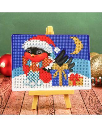 Алмазная мозаика для детей «Снегирь»+ ёмкость, стержень с клеевой подушечкой арт. СМЛ-121195-1-СМЛ0004271675