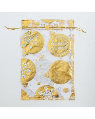 Мешочек подарочный органза «Исполнения желаний», 10х12 см арт. СМЛ-23634-2-СМЛ0004280341