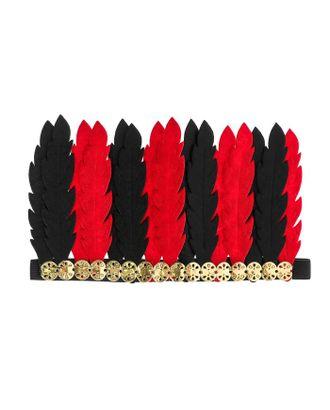 Карнавальный головной убор «Перья», цвет бело-красный арт. СМЛ-100584-2-СМЛ0004298820