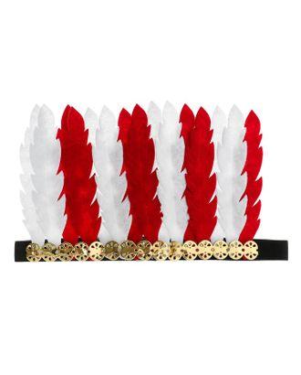 Карнавальный головной убор «Перья», цвет бело-красный арт. СМЛ-100584-1-СМЛ0004298821