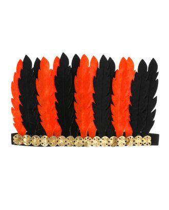 Карнавальный головной убор «Перья», цвет бело-красный арт. СМЛ-100584-3-СМЛ0004298822