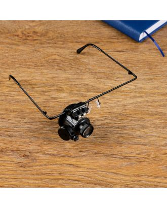 Лупа налобная 10х, монокулярная, с подсветкой арт. СМЛ-19503-1-СМЛ0431410