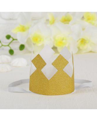 Корона «Король», с блёстками, цвет розовый арт. СМЛ-100697-3-СМЛ0004329966