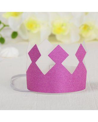Корона «Король», с блёстками, цвет розовый арт. СМЛ-100697-1-СМЛ0004329968