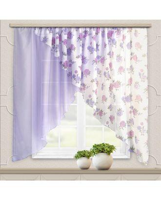 Комплект штор для кухни Марианна 300х160см, сиреневый, пэ 100% арт. СМЛ-34395-1-СМЛ4330203