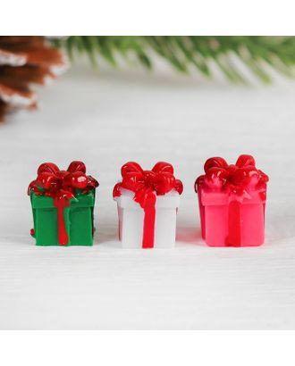 Миниатюра кукольная «Подарочек», набор 4 шт, размер 1 шт: 1,5х1,5х1,6 см, цв.МИКС арт. СМЛ-36908-1-СМЛ0004385014
