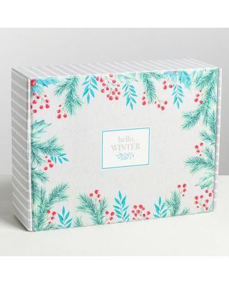 Складная коробка Hello, winter, 30.7 × 22 × 9.5 см арт. СМЛ-70717-1-СМЛ0004429444