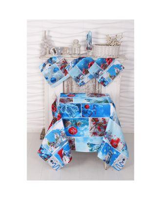 Столовый рогожка набор DomoVita Румянец Скатерть 110х150 4 салф 30х30 см, хл, 170 г/м2 арт. СМЛ-111279-1-СМЛ0004429842