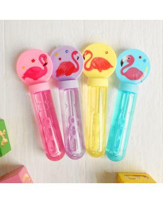 Мыльные пузыри «Фламинго» 2,5×4,5×13,5 см, МИКС арт. СМЛ-121301-1-СМЛ0004440445