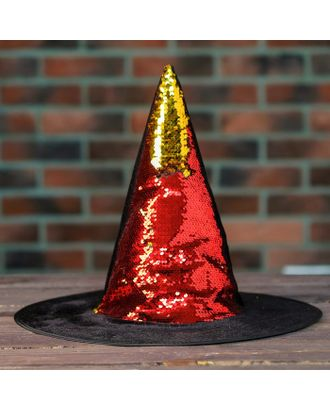 Карнавальная шляпа «Конус», с пайетками арт. СМЛ-100582-3-СМЛ0004449305