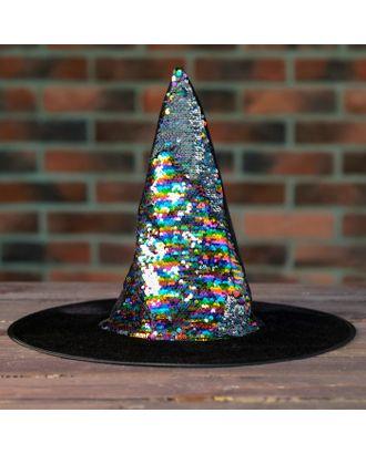 Карнавальная шляпа «Конус», с пайетками арт. СМЛ-100582-1-СМЛ0004449306