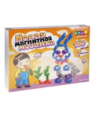 Мозаика магнитная фигурная, 160 элементов, 7 цветов арт. СМЛ-19514-1-СМЛ0445351