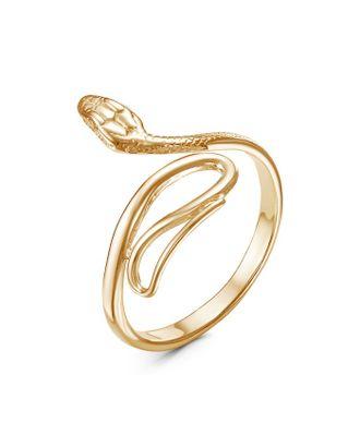 """Кольцо """"Змея"""" петля, позолота, безразмерное арт. СМЛ-35604-1-СМЛ0004480138"""