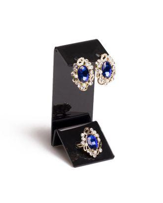 Подставка под серьги, кольцо, 4*4,5*9,5 см, 1,5 мм, цвет черный арт. СМЛ-35407-1-СМЛ0004496734