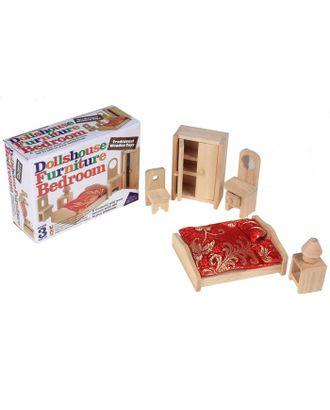 """Мебель для кукол """"Спальня"""", 5 предметов арт. СМЛ-53769-1-СМЛ0000452176"""
