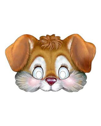 Карнавальная маска «Щенок», на резинке, картон, 376 x 178 арт. СМЛ-106618-1-СМЛ0004562122