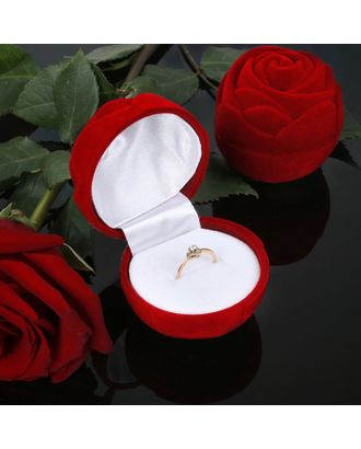 "Футляр под кольцо ""Роза крупная"", 5,5*5,5 арт. СМЛ-22062-2-СМЛ0464920"