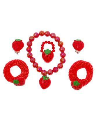 """Комплект детский """"Выбражулька"""" 5 предметов: 2 резинки, клипсы, браслет, кольцо, мишки арт. СМЛ-21904-2-СМЛ0465310"""