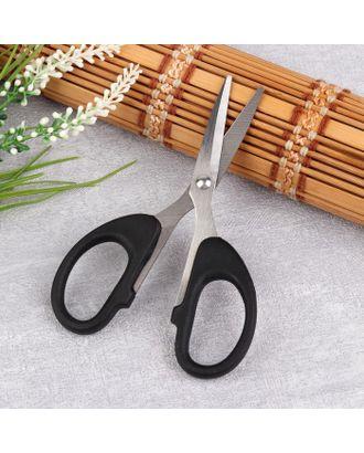 Ножницы универсальные, скошенное лезвие, 12 см, цвет чёрный арт. СМЛ-35527-1-СМЛ0004708028