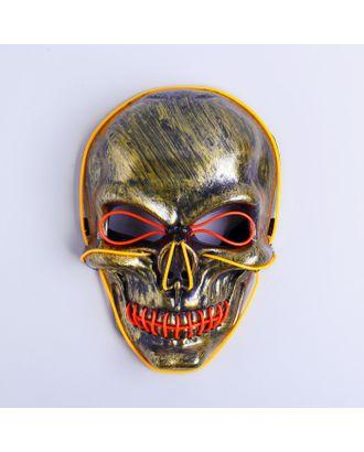 Карнавальная маска «Череп», световая арт. СМЛ-100586-2-СМЛ0004732075