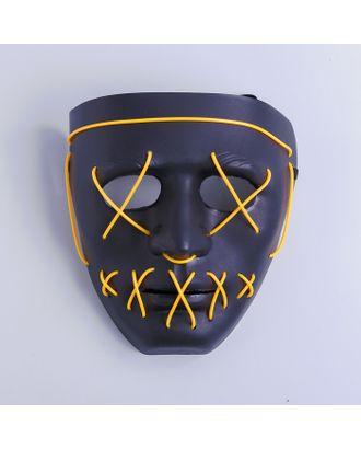 Карнавальная маска «Лицо», световая, цвет чёрный арт. СМЛ-100587-1-СМЛ0004732076
