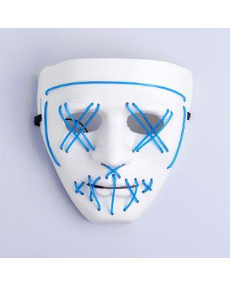 Карнавальная маска «Лицо», световая, цвет чёрный арт. СМЛ-100587-3-СМЛ0004732077