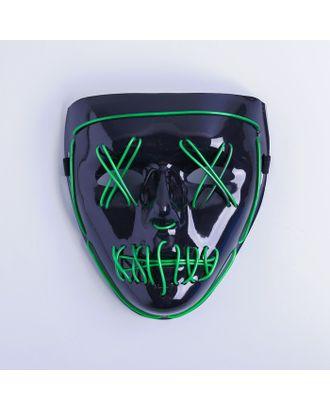 Карнавальная маска «Лицо», световая, цвет чёрный арт. СМЛ-100587-2-СМЛ0004732078