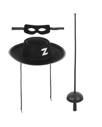 "Набор ""Зорро"",  шляпа, маска, шпага арт. СМЛ-76434-1-СМЛ0004743288"