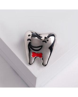"""Брошь """"Зуб"""" красавчик, цвет серебро арт. СМЛ-124905-1-СМЛ0004768377"""