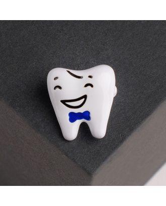 """Брошь """"Зуб"""" красавчик, цвет серебро арт. СМЛ-124905-2-СМЛ0004768394"""