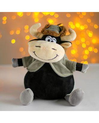 Мягкая игрушка «Бык», в шапке-ушанке арт. СМЛ-101277-2-СМЛ0004788856