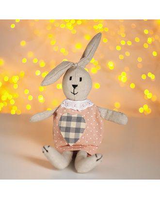 """Мягкая игрушка """"Зайка"""" платье в горох арт. СМЛ-108842-1-СМЛ0004790891"""