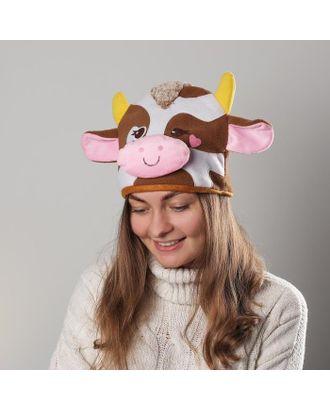 Карнавальная шапочка корова сердечко арт. СМЛ-110718-1-СМЛ0004812158