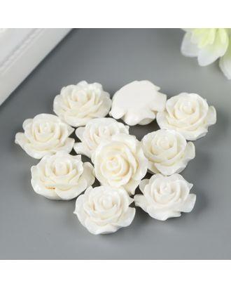 """Кабошон """"Роза"""", белый арт. СМЛ-34870-1-СМЛ0004842273"""