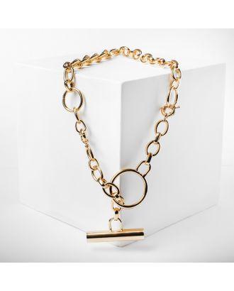 """Колье """"Цепь"""" три кольца, цвет золото арт. СМЛ-121567-1-СМЛ0004861732"""