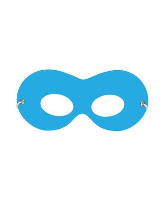 Маска на резинке, картон, цвет голубой арт. СМЛ-121621-1-СМЛ0004881655