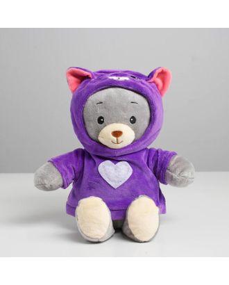 МИШКА ЛАППИ Медведь в костюме котёнка, сидит, 22 см арт. СМЛ-118816-1-СМЛ0004903737