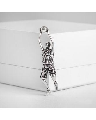 """Брошь """"Баскетболист"""", цвет чернёного золота арт. СМЛ-124921-2-СМЛ0004933039"""