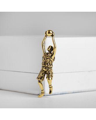 """Брошь """"Баскетболист"""", цвет чернёного золота арт. СМЛ-124921-1-СМЛ0004933041"""