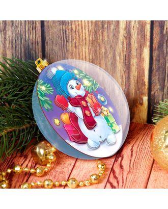 Набор для творчества. Аппликация в шаре «Снеговичок» арт. СМЛ-109934-1-СМЛ0004967856