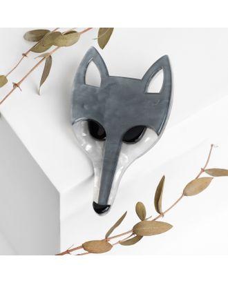 """Брошь """"Волк"""", цвет серый арт. СМЛ-105453-1-СМЛ0004980688"""