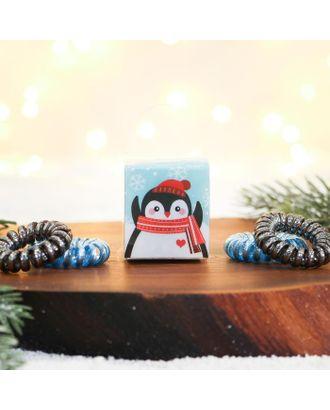 Набор резинок- пружинок «Милый пингвинчик», 3,5 х 6,5 х 4,5 см арт. СМЛ-124796-1-СМЛ0004983774