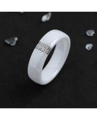 "Кольцо керамика ""Октава"", 6мм, цвет белый, 18 размер арт. СМЛ-117703-1-СМЛ0004984697"